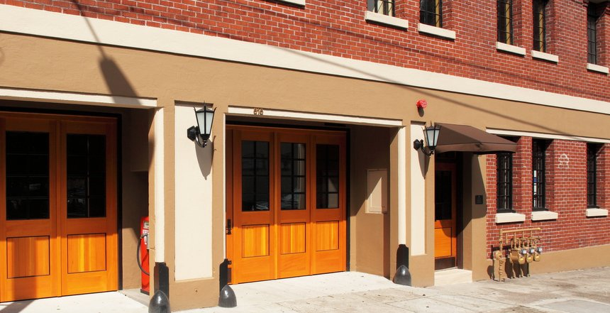 Fire Station new doors