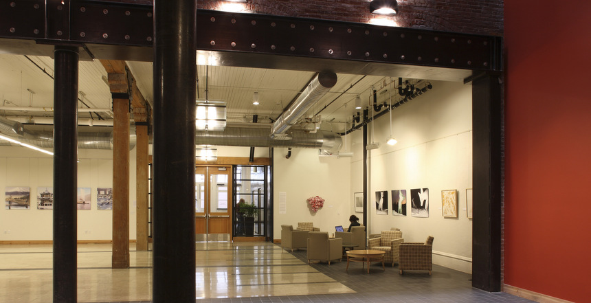 Lobby off NW First Avenue.