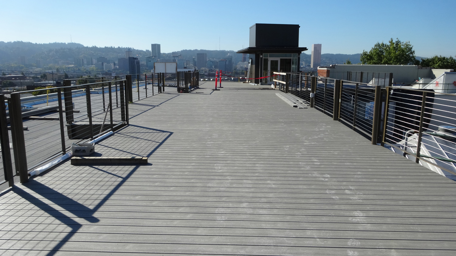 The roof top deck at washington high school venerable for Top deck roofing