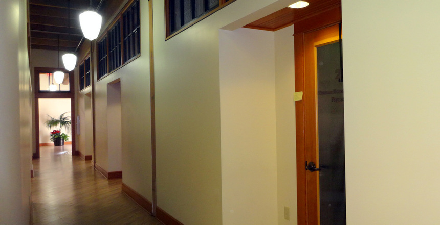 Hall to Suite 205